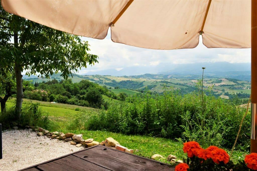 Casa Vista uitzicht van terras